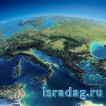 Фотография Средиземного моря на карте
