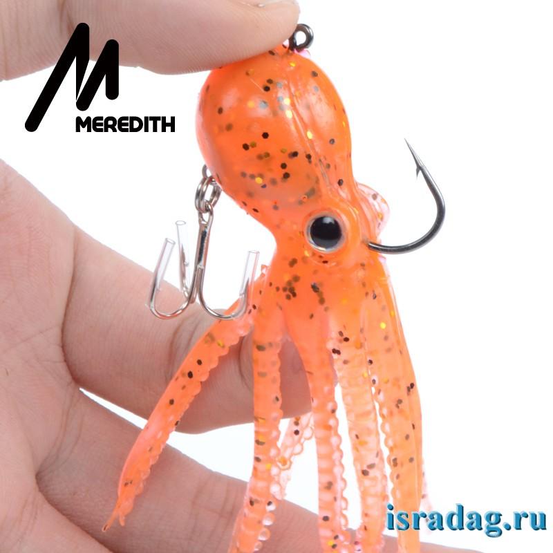 Октопус – пластиковый осьминог, приманка для рыбалки в заросших водоемах