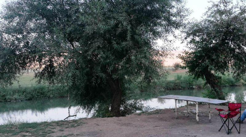 Израиль. Апрель 2017. Берег реки Иордан вниз по течению от моста ахамиша