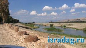 Израиль. Октябрь 2017. Река Иордан - бесплатное место для рыбалки возле Most Pkak - гешер пкак - островки