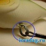 Монтаж разжимного кольца на воблере