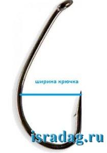 Ширина крючка