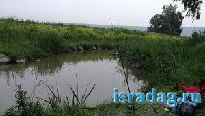 Секретное место для рыбалке волзле реки Иордан